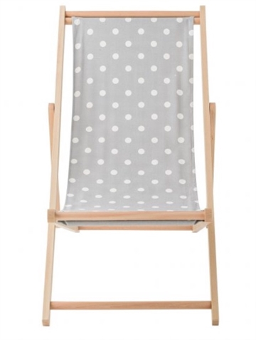 Bloomingville deck chair - grey/white