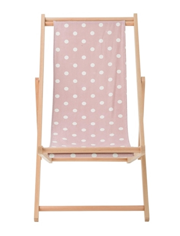 Bloomingville deck chair - rose/white