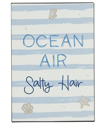Ib Laursen Metalskilt - Ocean Air Salty Hair